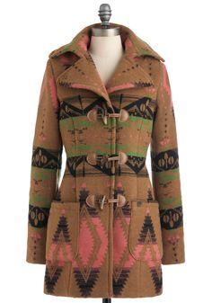 Bar Harbormaster Coat - Long, Tan, Green, Pink, Black, Pockets, Long Sleeve, 3, Casual, Folk Art, Rustic, Winter