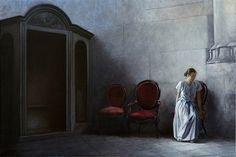Geneviève Dael ~ Repentirs, oil, 2015, 15x24 in.