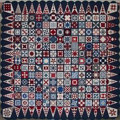 This quilt was made by Dear Jane Friends world-wide to be presented to President and Mrs. Bush for their leadership and guidance following the tragic events of September 11, 2001.