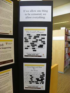 Valparaiso University Banned Books Display 2010