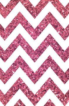 Glitter, Sparkle, Glow pink chevron iPhone wallpaper