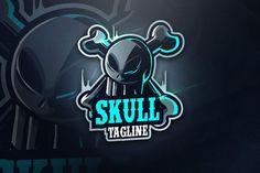 Skuller Team - Mascot & Esport Logo by aqrstudio on Envato Elements Creative Logo, Mafia, Envato Elements, Mobile Logo, Helmet Logo, Youtube Logo, Esports Logo, Team Mascots, Skull Logo