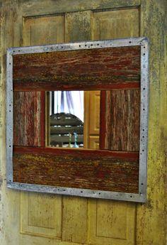 Barn wood mirror - www.facebook.com/Kukus.store