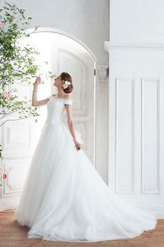 [dress:NOVARESE BTNV192] weddingdress weddingday white princess #bridal #ウエディングドレス