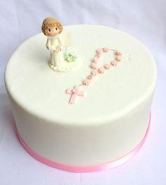 First communion cake topper. Girl first por ForeverSweetfavors