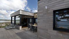 Painumaton hirsirunko | Honkarakenne Log Homes, Ecology, Contemporary, Modern, Houses, Patio, Outdoor Decor, Home Decor, Timber Homes