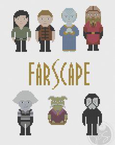 Farscape Pixel People (Printable PDF Pattern). $3.50, via Etsy.
