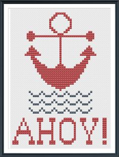 Anchor Cross Stitch Pattern. Freebie by Tiny Modernist. Love, love, love it!