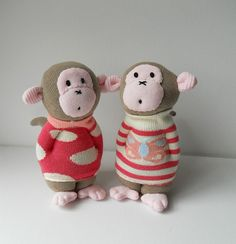 pair of baby sock monkeys | Flickr - Photo Sharing!