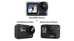 Which will be the best action camera in DJI OSMO Action vs GoPro black vs SJCAM Strike - check out my comparison of the latest action cams Dji Osmo, Gopro, Cameras, Action, Black, Group Action, Black People, Camera, Camera Phone