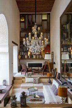 Traveler Lounge in Karawan Riad, Fez, Morocco. It is a splendor !