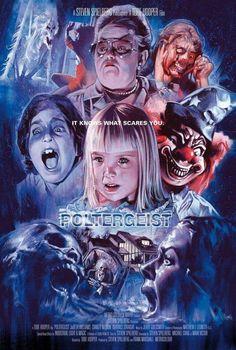 Horror Movie Poster Art : Poltergeist, 1982 by Graham Humphreys Retro Horror, Vintage Horror, Horror Art, Best Horror Movies, Classic Horror Movies, Scary Movies, 80s Movies, Horror Movie Posters, Movie Poster Art