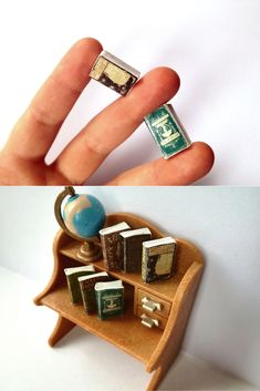 Twelfth scale miniature books for tiny bookworms, by MiniShacks on Etsy :)   #oneinchscale #dollhouseminiatures #dollhouseinspo #bookworm #minibook #dollhouse #dollshouse #spellbook #dollhouseproject #casademuñecas #puppenhaus #victoriandollhouse #miniatures #minishacks #12thscale
