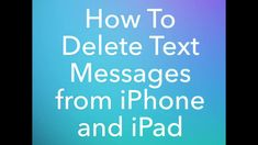 Many newbies who use iPhone or iPad for the very first time and they don't know how to delete messages. Here is the simple guide to delete the iPhone or iPad messages. Used Iphone, Homescreen, Text Messages, First Time, Ipad, Simple, Text Messaging, Text Posts, Texting