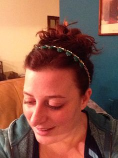 Eye Candy necklace as headband, using Charm bracelet. Daily Dot, Candy Necklaces, Eye Candy, Charmed, Bracelet, Hair Styles, Inspiration, Beauty, Fashion