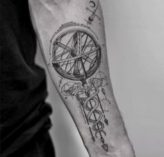 Gyroscope Tattoo by Balazs Bercsenyi