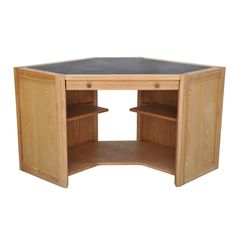 oak home office study computer desk with sliding keyboard tray