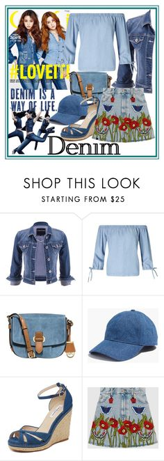 """""""Double Down on Denim"""" by westcoastcharmed ❤ liked on Polyvore featuring maurices, Miss Selfridge, MICHAEL Michael Kors, Madewell, L.K.Bennett, Gucci and Denimondenim"""