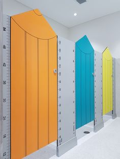 Aqualoo Kindy Cubicles - Routed compact laminate