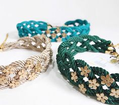 Leather Jewelry, Wire Jewelry, Hair Garland, Diy Belts, Modele Hijab, Moroccan Caftan, Textile Jewelry, Diy Accessories, Diy Clothing