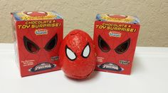 2 Chocolate Spiderman Surprise Eggs with Toy Surpirse inside similar to Kinder #ChocoTreasure
