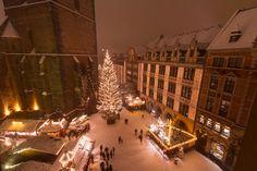 Weihnachtliches Hannover vom Maler Heyse - Impressionen Weihnachtsmarkt - fotografiert von Michael Siebert. Weihnachtsmarkt Hannover, Hannover Altstadt Weihnachtsmarkt