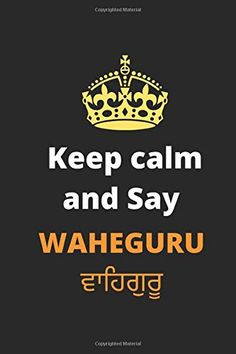Keep Calm and Say WAHEGURU.: Sikh Notebook and Journal. (Desi Punjabi Gifts) by Balvinder Sidhu New Books, Books To Read, India For Kids, Kindle App, Hinduism, India Travel, Travel Advice, Interesting Facts, Writing A Book