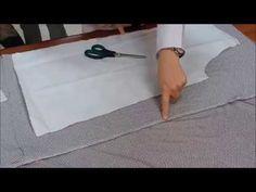 Kumaş Katı Yöntemi İle Pratik Bluz Kalıbı Yerleştirme / Practical Blouse Mold Placement - YouTube