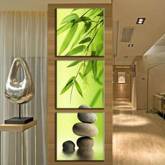 3 Pcs/Set Artist Canvas Still Life painting Bamboo and Stone vertical forms Canvas Prints Wall Pictures for Living Room Picture Canvas Wall Decor, Wall Art Decor, Framed Canvas, Framed Artwork, Feng Shui, 3 Panel Wall Art, Canvas Pictures, Wall Pictures, Living Room Pictures