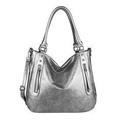 e7e2536654778  Werbung  DAMEN HANDTASCHE Schultertasche Metallic Leder Optik Bag Shopper  Umhängetasche  EUR 29