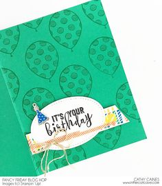 Balloon Adventures birthday card using @stampinup Occasions 2017 catalog items by @cathycaines In the Cat Cave