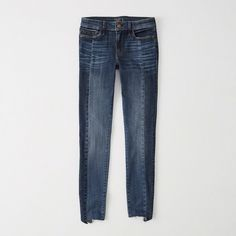 Abercrombie & Fitch Low-Rise Super Skinny Jeans ($39) via Polyvore featuring jeans, medium wash, super stretch jeans, stretch jeans, stretch skinny jeans, abercrombie fitch jeans and low rise stretch jeans