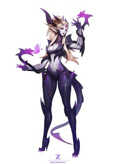 ArtStation - Dragon Sorceress Zyra Concept Art, Zeronis ⭐️