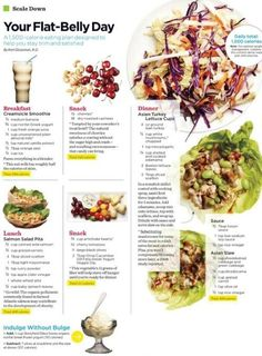 [Flat Belly Day] A 1,500 calorie eating plan designed to help you stay trim & satisfied.