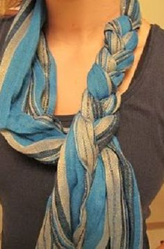 love this braided scarf!