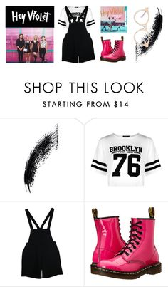 """""""Hey Violet"""" by briar-valiant on Polyvore featuring Boohoo, American Apparel, Dr. Martens and self-portrait"""