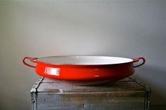 Dansk Paella Red - Kobenstyle Enameled Pot Pan - Jens Quistgaard IHQ - Large