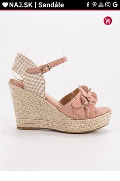 6e14aef06d Púdrové sandále s kvetmi Top Shoes