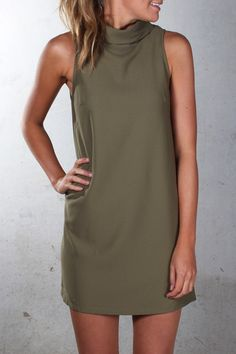 Swing Dress Khaki