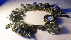 Gypsy tea party charm bracelet watch! NEW! £25 inc free UK P, gift boxed.