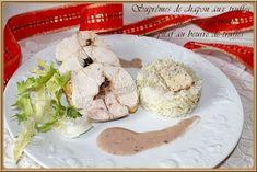 LA TABLE LORRAINE D'AMELIE: Suprêmes de chapon aux truffes, Sauce au Porto cré...