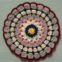 Crochet Mandala Wheel made by Sofia, Stockport, UK for yarndale.co.uk