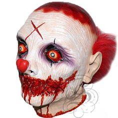 Latex Halloween Costume Overhead Hand Made Horror Vampire Zombies Goonies Masks , Animal Head Masks, Animal Heads, Clown Mask, Scary Mask, Clown Horror, Halloween Horror, Es Der Clown, Horror Party, Evil Clowns