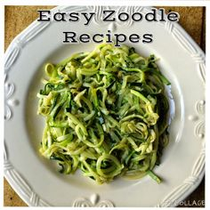 Food Impressions: Garlic and Olive Oil Zoodles!!!! (Zucchini Noodles)