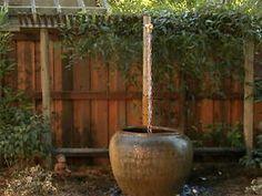 DIY Rain Chain Fountain for your backyard