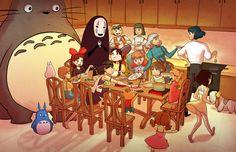 Studio Ghibli Art, Studio Ghibli Movies, Studio Ghibli Characters, Howls Moving Castle, My Neighbor Totoro, Animation, Hayao Miyazaki, Anime Love, Cute Art
