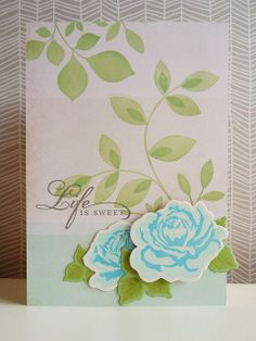 Life is sweet / handmade cards