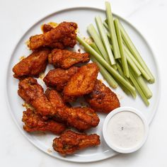 Two key steps ensure extra-crisp wings: letting them sit at room temperature evens the cooking time, and the cornstarch dredge transforms into a crunchy shell when fried. If you like your wing sauce super spicy, increase the amount of cayenne.