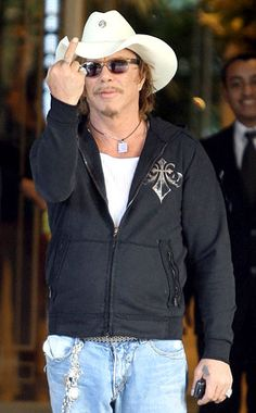 Mickey Rourke from Flipping the Bird  We're not quite sure what's more offensive: the actor's raised digit or the other five that usually go down in the opposite direction.