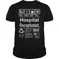 I Love  Hospital Receptionist Shirts & Tees #tee #tshirt #Job #ZodiacTshirt #Profession #Career #receptionist